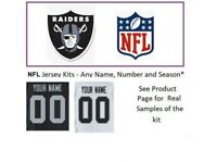 NFL Las Vegas Oakland Raiders Jersey Kit Custom Lettering ANY Name Number UNSEWN