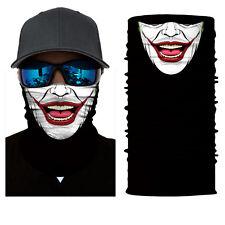 Joker CLOWN Balaclava Face Shield Neck Gaiter Neckerchief Sun Mask Motorcycle
