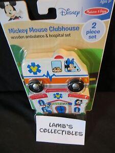 Melissa and Doug Disney Mickey Mouse clubhouse wooden ambulance & hospital set