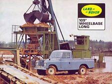LAND ROVER SERIES-IIA 88 & 109 RETRO POSTER BROCHURE CLASSIC ADVERT A3 !