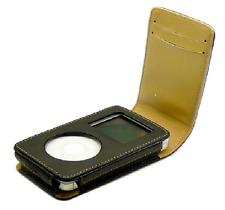 Fliptop Leather Case 4 Apple iPod 3G 4G Photo + Belt Clip Hand Strap Card Holder
