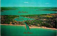 Lake Michigan MI Round Lake Charlevoix Postcard Unused (29472)