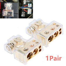 0/4/8 Awg Gauge Car Positive Negative Battery Terminal Clamp Connector w/Covers (Fits: Dodge Shadow)