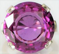 VINTAGE CUSTOM MADE 14K WHITE GOLD BEAUTIFUL ALEXANDRITE COLOR SHIFTING RING S5