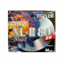 1 x Maxell CD-RW80 XLII Audio Music Regrabable Estuche de 80Min-totalmente Nuevo