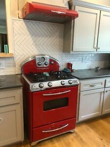 Red Elmira Retro Northstar Stove/Hood