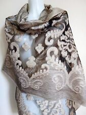 WEDDING SCARF SCARVES SHAWLS GOLD COVER UP SHAWL PASHMINA BLACK WRAP STOLE