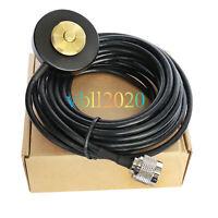 NMO Mount Magnetic Base with PL-259 Plug RG-58 Cable For ICOM KENWOOD VERTEX HYT