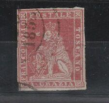 FRANCOBOLLI TOSCANA CR. 1 CARMINIO CHIARO SU GRIGIO Z/5938