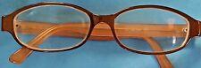 GUCCI Eyeglasses GG 1186 E8Y Oval Brown Peach Eyewear Frames Italy GG1186