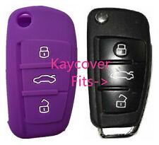 PURPLE SILICONE CAR KEY COVER for AUDI A1 A3 Q3 Q7 R8 A6L TT