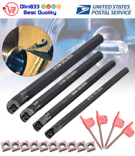 7/8/10/12mm SCLCR06 Lathe Boring Bar Turning Tool Set w/ 10pcs CCMT060204 Insert