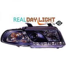 LHD Projector LED DRL Headlights Pair Clear Black For Audi A4 Avant 8D2 99-00