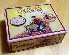 Vintage 1920's OMEGA Pocket Watch Box Scatola Caja Red RARE 800 SAVONETTE OEM