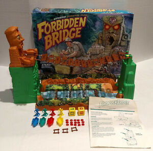 Forbidden Bridge Board Game 1992 Milton Bradley with Box ~ Missing 4 Railings