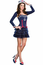Navy Sailor Girl Women's Costume Surf City Sweetie  SMALL NEW