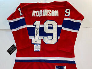 LARRY ROBINSON SIGNED MONTREAL CANADIENS CCM JERSEY Beckett