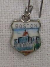 Vintage REU Sterling/Enamel Boston, Massachusetts State House Bracelet Charm