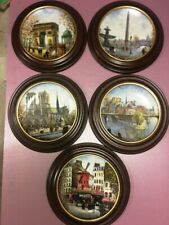 5 Louis Dali Porcelaine de Limoges France Collector Framed Plates