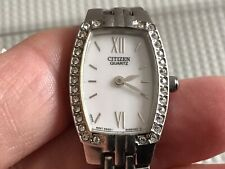 Citizen Ladies Crystal Bezel MOP Dial Steel Bracelet Watch 5920-S055563