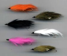 TRUITES MOUCHES: Mini SNAKE FLIES LITTLE DEVILS x 6 taille 8 All Tied in the UK (207)