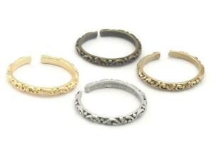 Minimalist Adjustable Ring Brass / Antique Silver plated / Antique Bronze /Gold