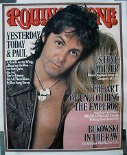 RARE PAUL MCARTNEY BEATLES WINGS 1976 VINTAGE ORIGINAL MUSIC POSTER