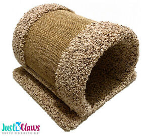 Just B'Claws Exclusive: Carpet & Sisal Play Tunnel! Cat & Small Pet Scratcher!