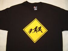 Border Crossing T-Shirt Size Extra Large. New, Mexican, 5 Freeway, Yellow Sign