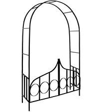Arco para Rosas y Plantas trepadoras de Metal pulverizado 240x140x40cm Jardín