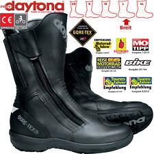 Daytona Gore-Tex motocicleta botas Road Star GTX cuero impermeable ancha talla 44