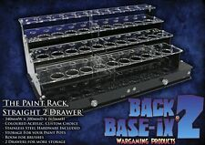 Paint Bottle Rack Modular Organizer for Tamiya Paint 30 Pots & 2 Drawers