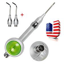 Dental Hygiene Teeth Polishing Air Polisher Handpiece 2 Hole 2pcs Nozzles Tips