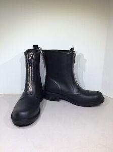 Frye Storm Bootie Women's Size 6M Black Zip Calf High Rain Boots FW-167