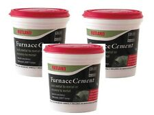 3~New! #64 RUTLAND 1 Pint Chimney Sweep Furnace Cement to 2,000° F Mortar Black