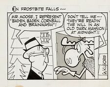 NEW LISTINGRocky and Bullwinkle Original Ink Daily Comic Strip Art signed Al Kilgore 1962 Comic Art