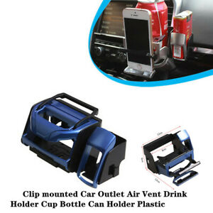 ABS Clip Mounted Car Outlet Air Vent Drink Holder Trim Cup Bottle Can Bracket