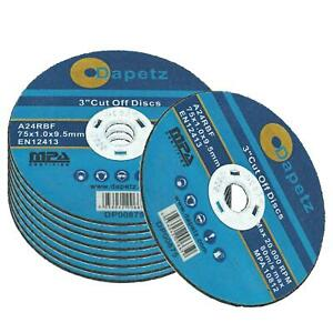 75mm x 1mm Thin Cut Off Disc Stainless Steel Metal Cutting Discs PACK OF 10