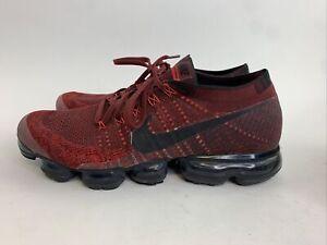 Nike Vapormax Flyknit Men's 12 - Dark Team Red Black - 849558-601