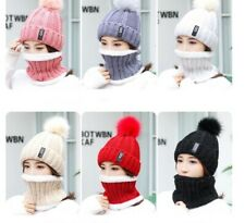 Women Winter Knitted Hat Colorful with Neck Warmer Could be used as a Face Mask
