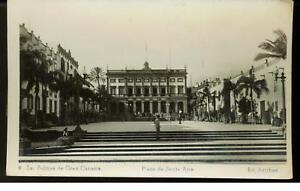 1951 Canary Islands Spain Plaza de Santa Ana RPPC Cover