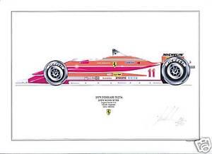 J.Scheketer ltd.ed.signed art print- 1979 Ferrari 312T4
