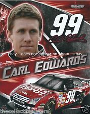 CARL EDWARDS OFFICE DEPOT FORD FUSION RACING NASCAR SPRINT CUP 8 X 10 PHOTO