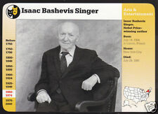 ISAAC BASHEVIS SINGER Nobel-Prize Winning Author GROLIER STORY OF AMERICA CARD