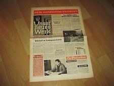 antik Zeitung SED Betriebszeitung VEB Stahl Gröditz DDR Unser Neues Werk 1962