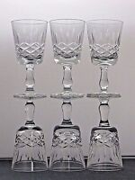 ELEGANT DESIGN CUT GLASS LEAD CRYSTAL SHERRY PORT GLASSES SET OF 6
