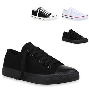 Herren Sneaker Low Turnschuhe Schnürer Canvas Freizeitschuhe 834047 Trendy Neu