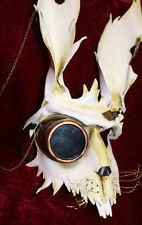 Steampunk Liebre Conejo Bunny Veneciana Mascarada Máscara de cuero hecha a mano