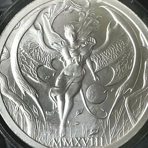 2018 Temptation of the Succubus 2oz .999 Fine Silver Hot Girl Skulls Beauty Lady