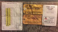 Vintage CAME DOWN GOLF CLUB DORSET 1978/79 Receipts And Score Cards